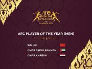 官方:亚洲足球先生三人候选名单公布,武磊连续两年入围