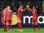 拜仁客场2-1安德莱赫特,托利索传射,蒂亚戈、罗本伤退