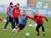 高清图集:拜仁训练备战周末联赛,里贝里穆勒均参与训练