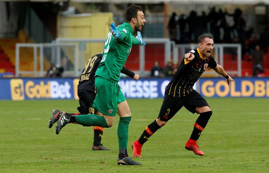 自2001年以来布里尼奥利是首位在意甲取得进球的