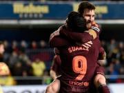 大喜娱乐官网集锦:比利亚雷亚尔 0-2 巴塞罗那