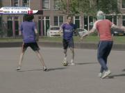 街头足球实战4V4,荷兰VS丹麦