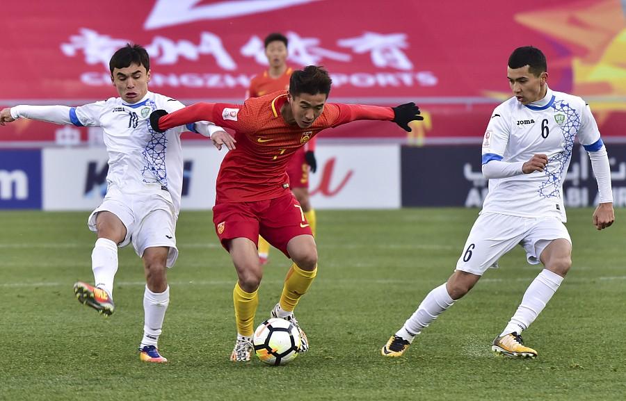 图集:中国U23亚洲杯遗憾败北,国足小将遇强硬防守略显狼狈