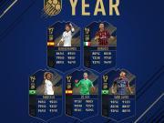 FIFA 18年度最佳阵容防线球员:德赫亚、拉莫斯领衔