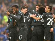 切尔西4-0布莱顿,阿扎尔、威廉三分钟内两球,摩西联赛首球