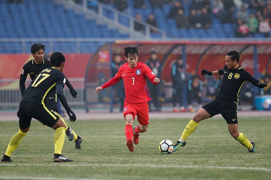 U23亚洲杯四分之一决赛上