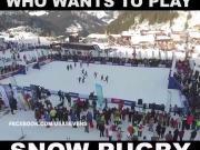 在雪地里来场美式足球是什么体验?有谁想来试一下吗