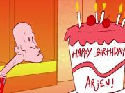 德甲制作动画为罗本庆生,猜猜这个蛋糕里面有什么?