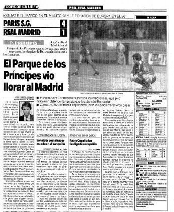 你知道吗?巴黎曾首回合1-3不敌皇马,但次回合4-1逆转