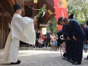祈福,名古屋全队参拜热田神宫