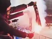 激怒对手无下限?欧联杯现场基辅迪纳摩球迷焚烧雅典AEK围巾