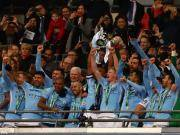 瓜帅蓝月生涯首冠!曼城3-0阿森纳夺英联杯冠军,阿圭罗吊射