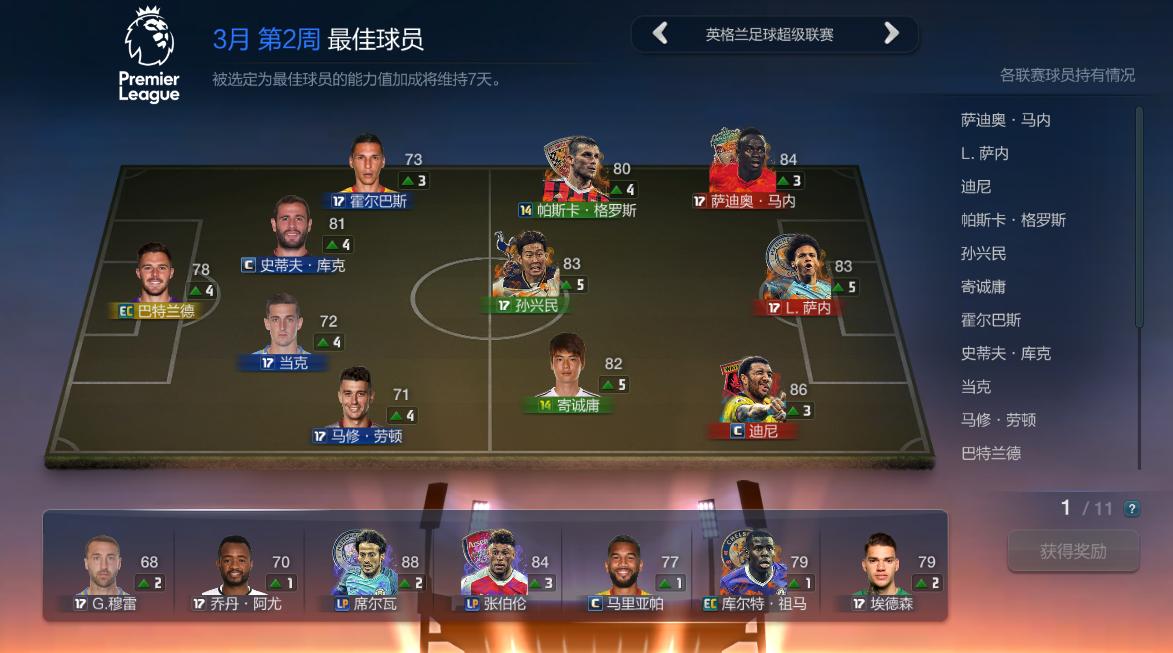 FIFA OL3周最佳:韩国双子星领衔英超C罗格列兹曼