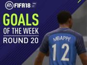 FIFA 18官方周最佳进球:姆巴佩蝎子摆尾,C罗复制经典
