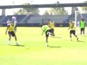 伊斯科接门将球直接后脚本破门,训练场破门还可以这么简单?