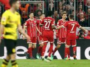拜仁6-0终结多特十二轮不败,莱万戴帽,J罗两传一射