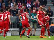 拜仁5-1门兴,阿拉巴世界波,瓦格纳两球,莱万、蒂亚戈建功