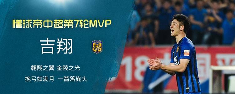 懂球帝中超第7轮MVP:吉翔