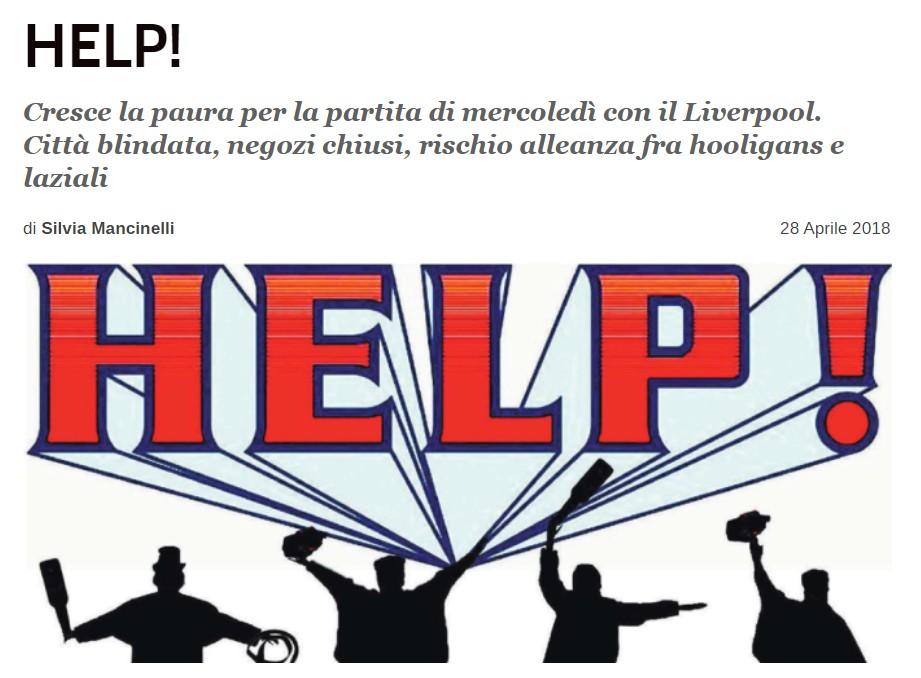 罗马当地媒体:拉齐奥和利物浦极端球迷可能在