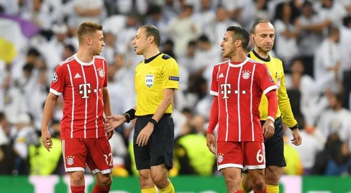 表现被认可,皇马拜仁次回合主裁恰克尔可能继续执法欧冠决赛