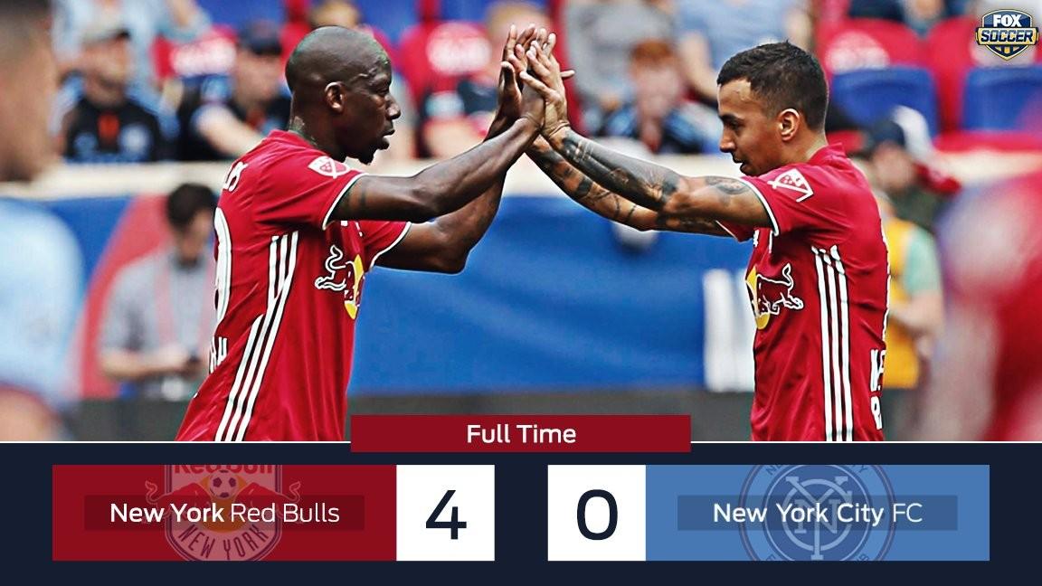 纽约红牛4-0大胜纽约城,比利亚首发