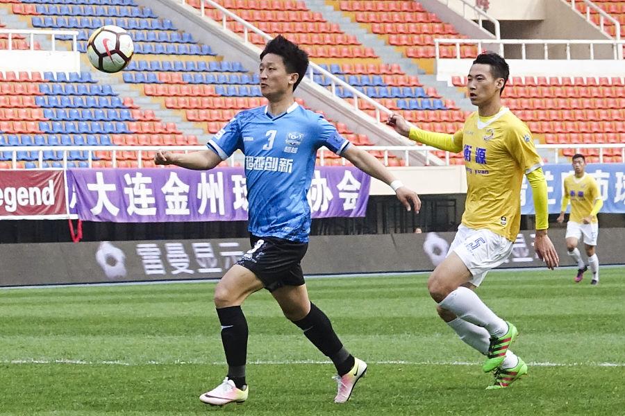 超越1-0申鑫联赛三轮不败,胡兆军定位球制胜