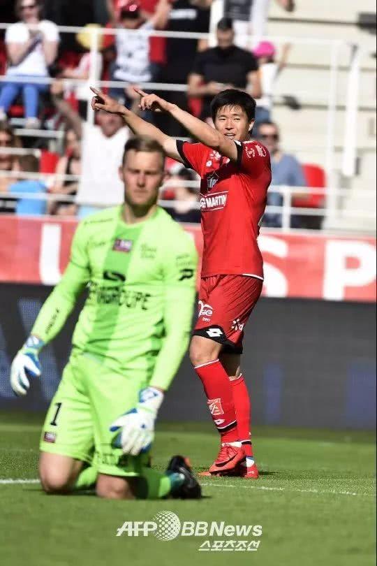 韩国球员在欧洲:韩国球员进球现井喷,升佑昶