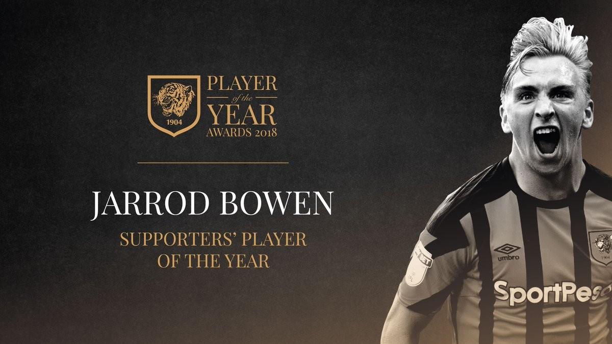 赫尔城年度最佳球员:鲍恩
