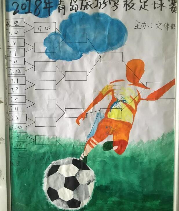 民间足球报道:青岛旅游学校校园足球赛开幕了