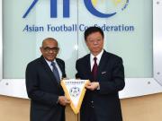 交流|北京市足协代表团访问亚足联