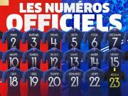 法国队号码分配:姆巴佩10号
