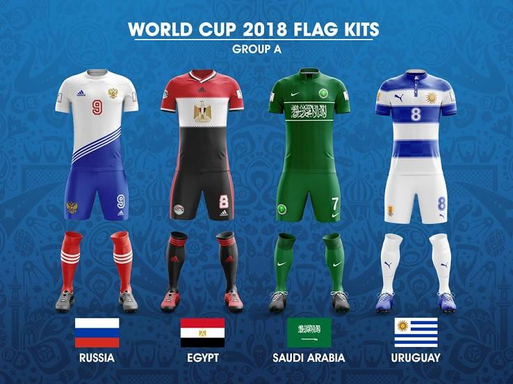 如果世界杯32强球衣都是以国旗元