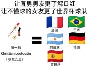 懂球帝海报:如何向女神解释世界杯球队的水平?已添加中国!