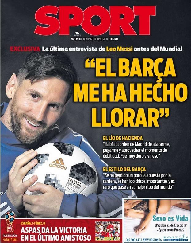 梅西:马德里政府下命令攻击我