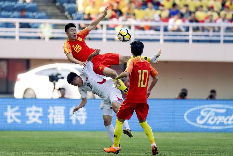 半场战报:U23国足0-0朝鲜U23