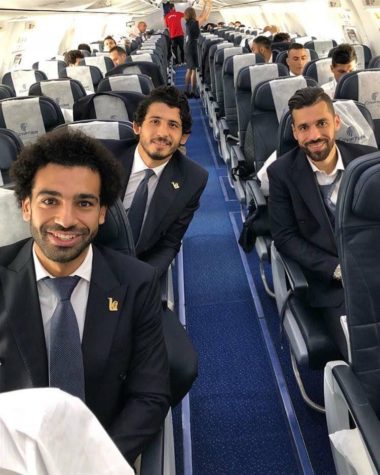 埃及队飞往俄罗斯,萨拉赫随队