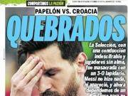 阿根廷0-3惨败克罗地亚,各国媒体头版长啥样?