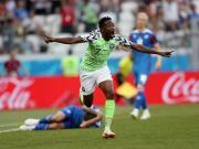 冰岛0-2尼日利亚与阿根廷同分,穆萨两球,西于尔兹松失点