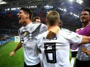 十人德国2-1逆转瑞典,罗伊斯破门,克罗斯读秒任意球绝杀