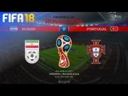 FIFA 18预演伊朗vs葡萄牙:一边倒还是超级大翻盘?