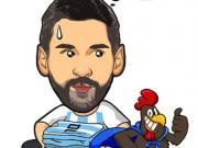 世界杯漫画日记——花有重开日,人无再少年,再见梅西!