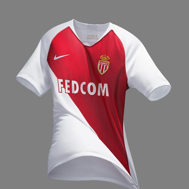 耐克发布摩纳哥2018\/19赛季主场球衣