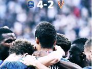 法国队夺冠,本泽马送上祝贺