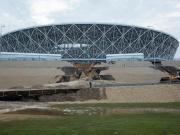 遇暴雨,世界杯一大喜娱乐城场外围坍塌