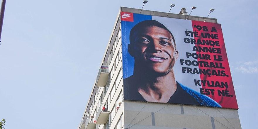 耐克广告吹姆巴佩:98年是法国足球伟大的一年,