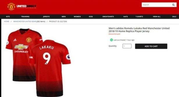 成年版的球衣总代价将抵达192英镑2018/12/31曼联