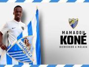 官方:马拉加租借莱加内斯前锋