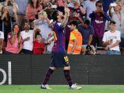 巴萨3-0连续十年取得联赛开门红,梅西打入巴萨西甲第6000球