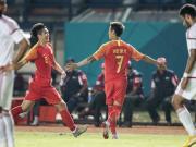 U23国足2-1阿联酋头名出线,姚均晟超级世界波,韦世豪破门