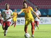 中国女足16-0大胜塔吉克斯坦提前晋级,王珊珊九球,赵容五球